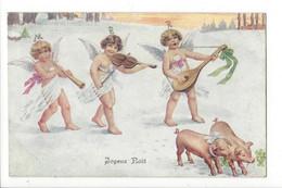 26403 - Joyeux Noël 3 Anges Musiciens Et 2 Cochons BKWI 3196-3 - Other