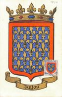 G0812 - Emblème ANJOU - 26 JUIN 1950 - N° 060501 - 1950-59