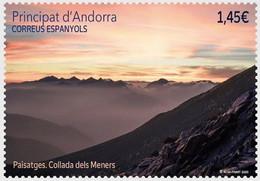 Andorra (Spanish Post) 2020, Landscape - Mountain View, MNH Single Stamp - Ongebruikt