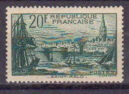 France 1938 Yvert 394 ** Neuf Sans Charniere. Port De St Malo - Neufs