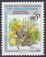 Timbre Oblitéré N° 1789(Michel) Madagascar 1995 - Protection De L'environnement - Madagaskar (1960-...)