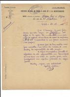 1935 LE TEIL - AVARIE SUR UN WAGON - NOTE A M. BERGON A BEZIERS - PLM TRACTION - Eisenbahnverkehr