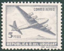 1957  URUGUAY Mnh AIRMAIL Yvert A161 - Quadrimotor Aircraft Four-engine Avion Aviation Flugzeug Luftfahrt - Uruguay