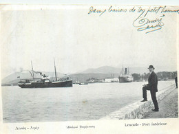 GRECE LEUCADE  Port Intérieur   2 Scans - Grecia