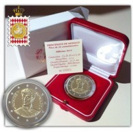 """Monaco 2019 : 2 Euro Commémorative """"200 Ans Accession Au Trône De Honoré V""""   (BE Et En Coffret) - DISPO EN FRANCE - Monaco"""