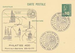 1891 CP1 0.80 BEQUET - ENTIER Repiqué PONT Sur SAMBRE PHILAT'EG (VALENCIENNES) 29/10/77 - Postales  Transplantadas (antes 1995)