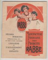 ° RABBE ° L'hygiène Et L'allaitement Des Enfants - Tétines, Biberons .... ° Bébé ° Livret Commercial ... ° - Andere
