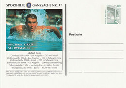 "Bundesrepublik Deutschland - Sporthilfe-Postkarte Nr. 17 ""Michael Gross, Schwimmen"" ** (D523) - Private Postcards - Mint"