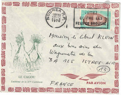 Nouvelle Calédonie - Noumea - Lettre Avion Pour La France - 27 Décembre 1970 - Usados