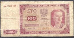 Pologne - Billet De 100 Zlotych - 1er Juillet 1948 - Polen
