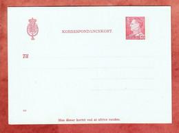Kartenbrief K 79 Koenig Frederik, Ungebraucht (1342) - Enteros Postales
