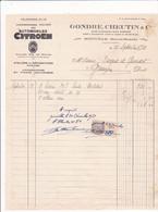 52-Gondre, Cheutin & Cie...Automobiles Citroën...Joinville..(Haute-Marne)..1941 - Automobilismo