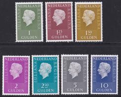 "1969-72 Koningin Juliana ""Regina"" 1 / 10 Gulden PostfrisNVPH 952 / 958 - Nuovi"