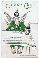 """Gott Mit Uns, Le Bon Dieu Allemand Cesse De Protéger Le Kaiser Se """" Trouvant Mieux """" Au Merry Grill Que Sur Son Nombril. - Publicité"""