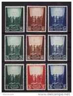VATICAN  1942+   N °95 /.97 + 102 / 04 + 109 / 11  Neuf X = 9 Valeurs - Unused Stamps