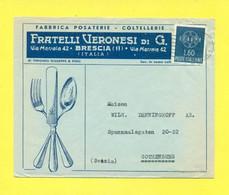 STORIA POSTALE -  -PUBBLICITARIE - BRESCIA - 1946-60: Marcophilie