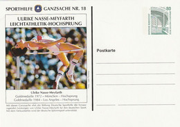 "Bundesrepublik Deutschland - Sporthilfe-Postkarte Nr. 18 ""Ulrike Meyfarth, Hochsprung"" ** (D524) - Private Postcards - Mint"
