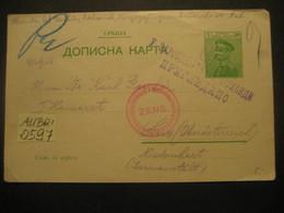 Serbien 1915- Ganzsache Zensur Postkarte Aus Dem Kriegsgefangenenkommando In Nis Gelaufen Nach Linz - Serbia