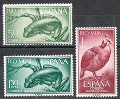Serie Completa RIO MUNI 1964, Dia Del Sello, Rana Y Gallina De Guinea, Num 57-59 * - Riu Muni