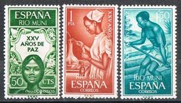 Serie Completa RIO MUNI 1965, XXV Años De Paz, Enfermera, Transporte Rio, Num 60-62 * - Riu Muni