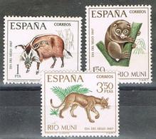 Serie Completa RIO MUNI 1968, Dia Del Sello, Fauna Local, Num 80-82 * - Riu Muni