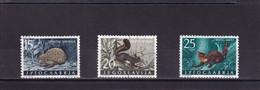 YOUGOSLAVIE 1960 :  Y/T  N° 818 819 820 OBLIT. Mammifères - Used Stamps
