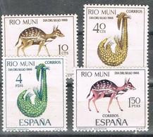 Serie Completa RIO MUNI 1966, Dia Del Sello, Fauna Local, Num 72-75 * - Riu Muni