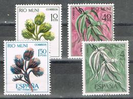 Serie Completa RIO MUNI 1967, Pro Infancia, Flora, Plantas, Num 76-79 * - Riu Muni