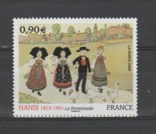 "FRANCE / 2009 / Y&T N° 4400 ** : ""La Promenade"" (Hansi / Jean-Jacques Waltz) X 1 - Unused Stamps"