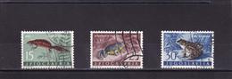 YOUGOSLAVIE 1962 :  Y/T  N° 905 907 908 OBLIT. Reptiles Et Batraciens - Used Stamps