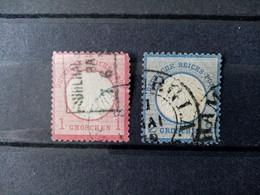 ALLEMAGNE Empire . 1872 . N° 4 Et 5 . Oblitérés . Côte YT 2020 :  27,00 € . - Oblitérés