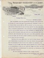 Lettre Illustrée 8/5/1912 Metallwaren Gesellschaft Auiguilles Pour Machines à Coudre Et à Tricoter AACHEN Allemagne - 1900 – 1949