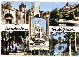 LUSIGNAN  CPM MULTI VUES  -  1950 / 60 - Lusignan