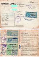 Permis De Chasse - Timbres Fiscaux - Revenue Stamps
