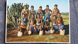 CPSM AFRIQUE DU SUD  ZULU NATAL FEMMES SEINS NUS ED PROTEA COLOR PRINT - Sudáfrica