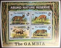 Gambia 1976 WWF Abuko Animals Minisheet MH - Ohne Zuordnung