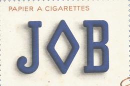XX // Vintage /  French Old Blotting / Buvard Ancien  JOB Papier à Cigarettes Le Globe Fume Asie Afrique - J