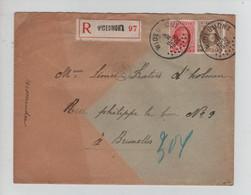 REF2561/ TP 200-203 Houyoux S/L.Recommandée C.Wideumont 3/2/1926 > BXL Avec Contenu - Brieven En Documenten