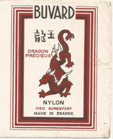 XX // Vintage /  French Old Blotting / Buvard Ancien  Dragon Précieux BAS Nylon Chine - D