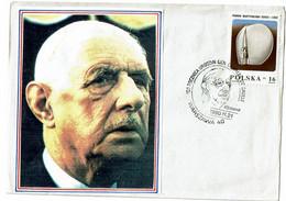 Enveloppe 1er Jour Charle De Gaulle  Warszawa - Zonder Classificatie