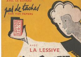 XX // Vintage /  French Old Blotting / Buvard Ancien  Lessive Jeanne D'arc LAVE BLANC Dessin Signé - L