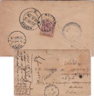 Straits Settlements - 4 C. Eduard VII. Schiffsbrief Butterworth - Madras 1913 - Ohne Zuordnung