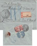 Russland - 2x3+2x7 Kop. Einschreibebrief I.d. SCHWEIZ St. Petersburg - Genf 1910 - Unclassified