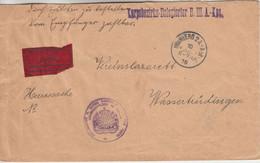 Bayern - Nürnberg 2A Abt. 1916 Heeressache Eilbrief N. Wassertrüdingen - Bavaria