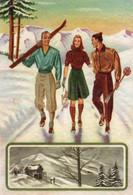 SALUTI DALL' ABETONE - NON VIAGGIATA - Werbepostkarten