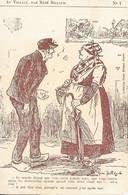 CPA ILLUSTRATEUR CHARENTAIS  R.BILLAUD   Au Village  N° 1 ( Teintée Marron ) Vierge - Altre Illustrazioni