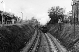Départ De Nogent-sur-Marne, Côté Joinville. Locomotive 131 TB. Photo Jacques Bazin. 02-04-1956 - Eisenbahnen