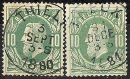N° 30 EC Met THIELT + THEUX - 1869-1883 Leopold II
