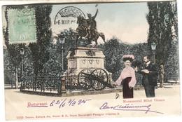 Bucuresci Monumental  Mihai Viteazu Photomontage Color ED. MAIER 1905 - Romania