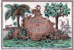 Vieille étiquette (9,7 X14,2)  Crème De Cacao    Imp Gougenheim Lyon - Sin Clasificación